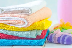 Color towels Stock Image
