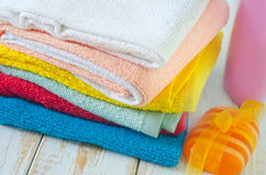 Color towels Royalty Free Stock Images