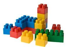 Color toy blocks Stock Photos