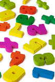 Color toy figures on white background Stock Image