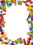 Color toys border Stock Image