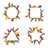 Color toys border Stock Images