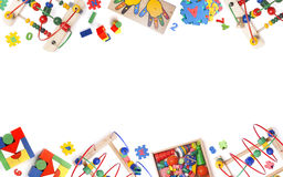 Color toys border. On the while background royalty free stock images