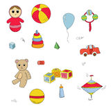 Color toys set Royalty Free Stock Photos