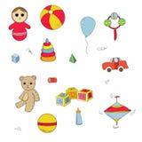 Color toys set Royalty Free Stock Photos