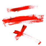 Color Traces Line of Red Paint isolated on a white Stock Photography