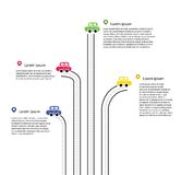 Color Traffic Infographic Stock Photo