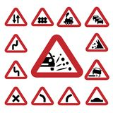 Color traffic signs Stock Photography