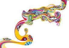 Color transformation. A vector image Stock Image