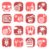 Colorfull travel icons Stock Photos