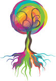 Color tree. Concept been created as vector Royalty Free Stock Images