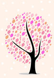 Color tree vector isolated Royalty Free Stock Images