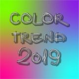 Color trend 2019 royalty free stock photo