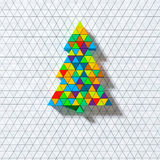 Color triangle christmas ornament card Royalty Free Stock Images