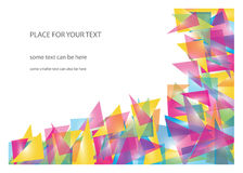 Color triangles background vector illustration