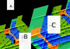 Color triangles background design stock illustration