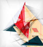 Color triangles, unusual abstract background Stock Image