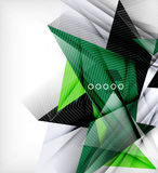 Color triangles, unusual abstract background royalty free illustration