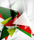 Color triangles, unusual abstract background vector illustration