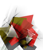 Color triangles, unusual abstract background Stock Photos