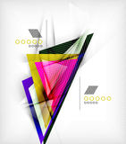 Color triangles, unusual abstract background Stock Photography