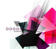 Color triangles, unusual abstract background Royalty Free Stock Image