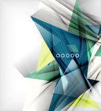 Color triangles, unusual abstract background Royalty Free Stock Photos