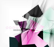 Color triangles, unusual abstract background Stock Images