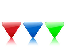 Color triangular icon Stock Images