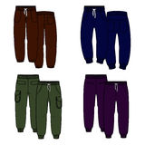 Color trousers Royalty Free Stock Photography