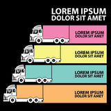 Color truck chart and blank stripe Royalty Free Stock Images