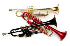 Color trumpets Stock Photo