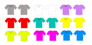 Color tshirt vector set Royalty Free Stock Photos