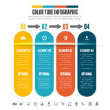 Color Tube Infographic Stock Images