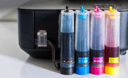 color tube of printer Royalty Free Stock Images