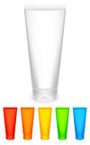 Color tubes of cream. Royalty Free Stock Photo