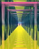 Color tunnel. Royalty Free Stock Photo