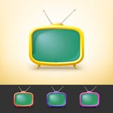Color TV set in cartoon style. Stock Images