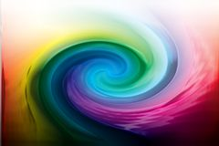 Color twirl. Rainbow color twirl generated by computer Stock Images