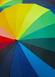 Color umbrella background Stock Photography