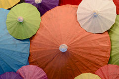 The color of umbrella Royalty Free Stock Photography