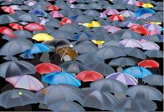 Color umbrella background illustration Stock Photos