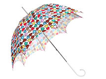 Color umbrella with heart royalty free stock photography