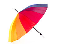 Color umbrella isolated on white background Stock Photography