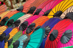 The color of umbrella Stock Images