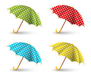 Color umbrellas Stock Photo