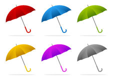 Color umbrellas Stock Photography