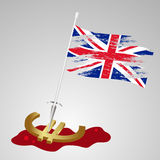 Color united kingdom flag euro killing eps10 Stock Image