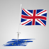 Color united kingdom flag european union flag killing eps10 Royalty Free Stock Image