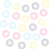 Color universal geometric seamless pattern. In pointillism style. Endless vector circle texture can be used for wrapping wallpaper, pattern fills, web Royalty Free Stock Images
